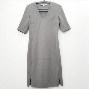 Diane Von Furstenberg Grey Zipper Dress